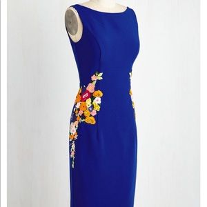 ModCloth ChiChi London Cheerily Beloved Blue Dress